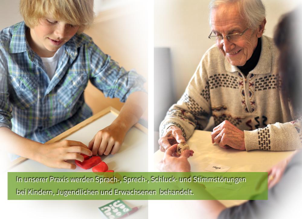 Behandlung von Kindern und Erwachsenen